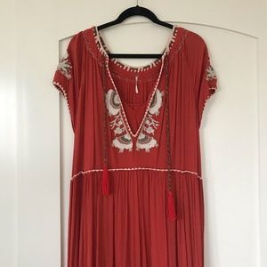 FP Maxi Embroidered Gypsy Dress